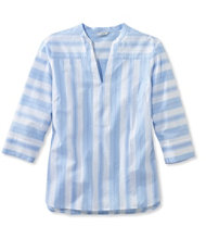Poplin Harbor Popover, Three-Quarter-Sleeve Stripe