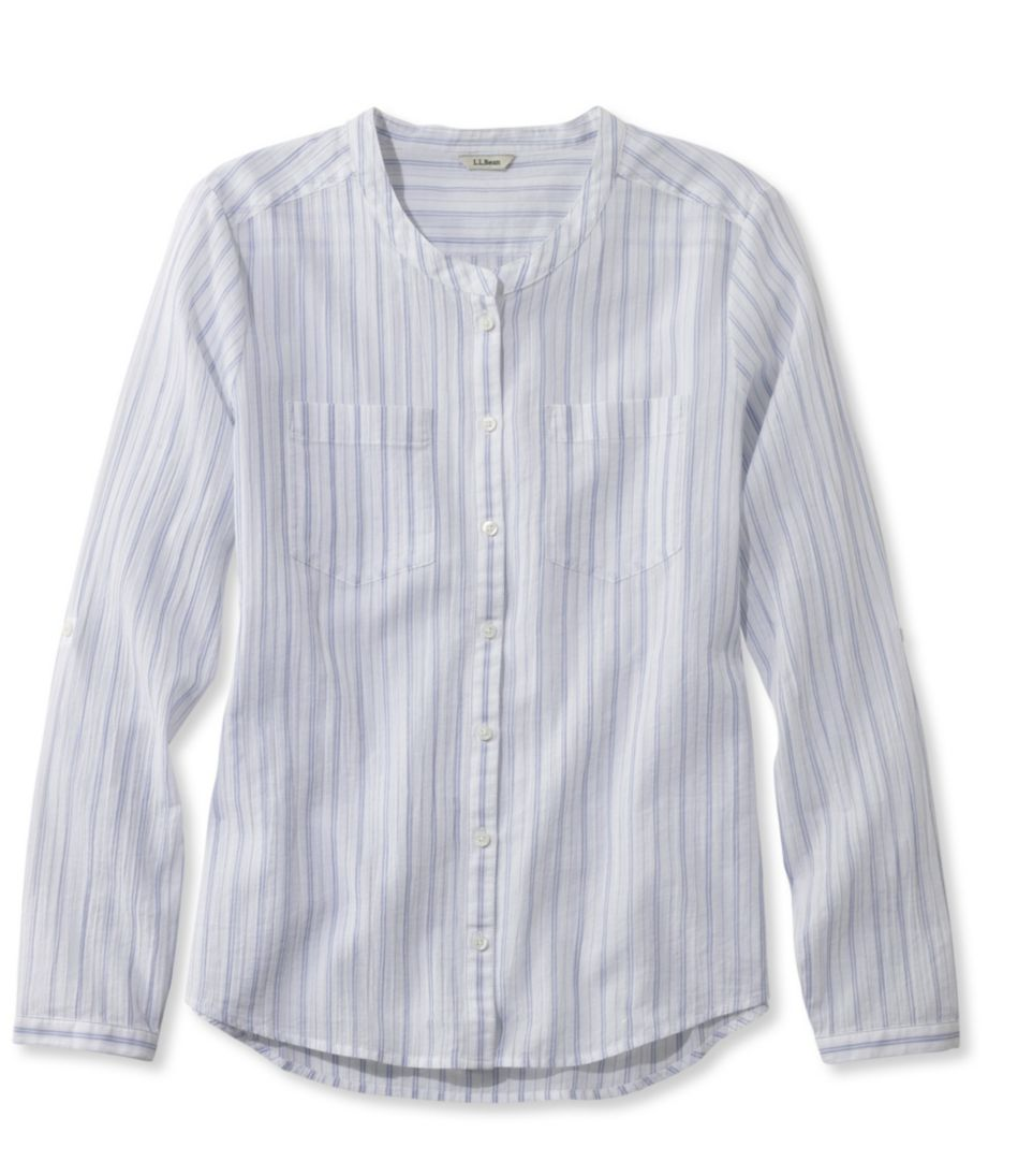 Cotton Crinkle Shirt, Stripe