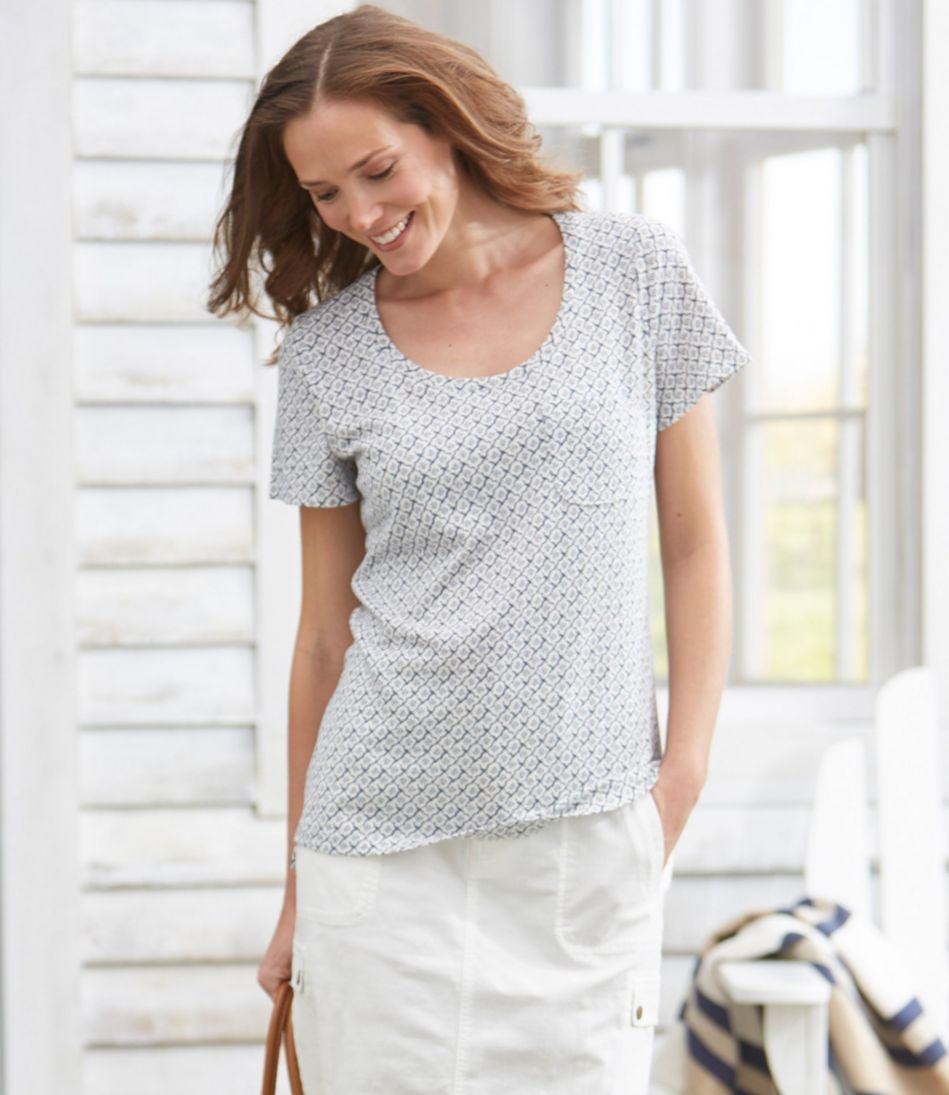 Linen/Cotton One Pocket Tee, Print