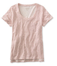 Women's Linen/Cotton One Pocket Tee, Print