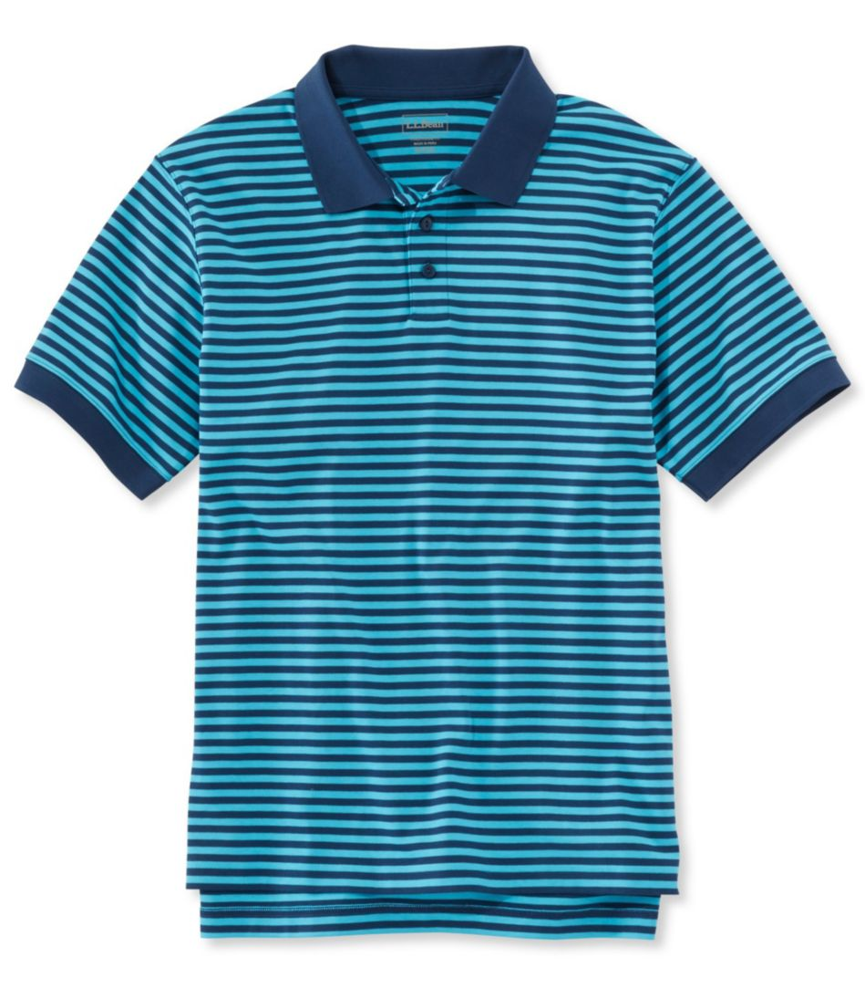 Pima Cotton Polo Shirt, Traditional Fit Banded Short-Sleeve Narrow Stripe