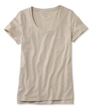 Linen/Cotton One Pocket Tee, Stripe