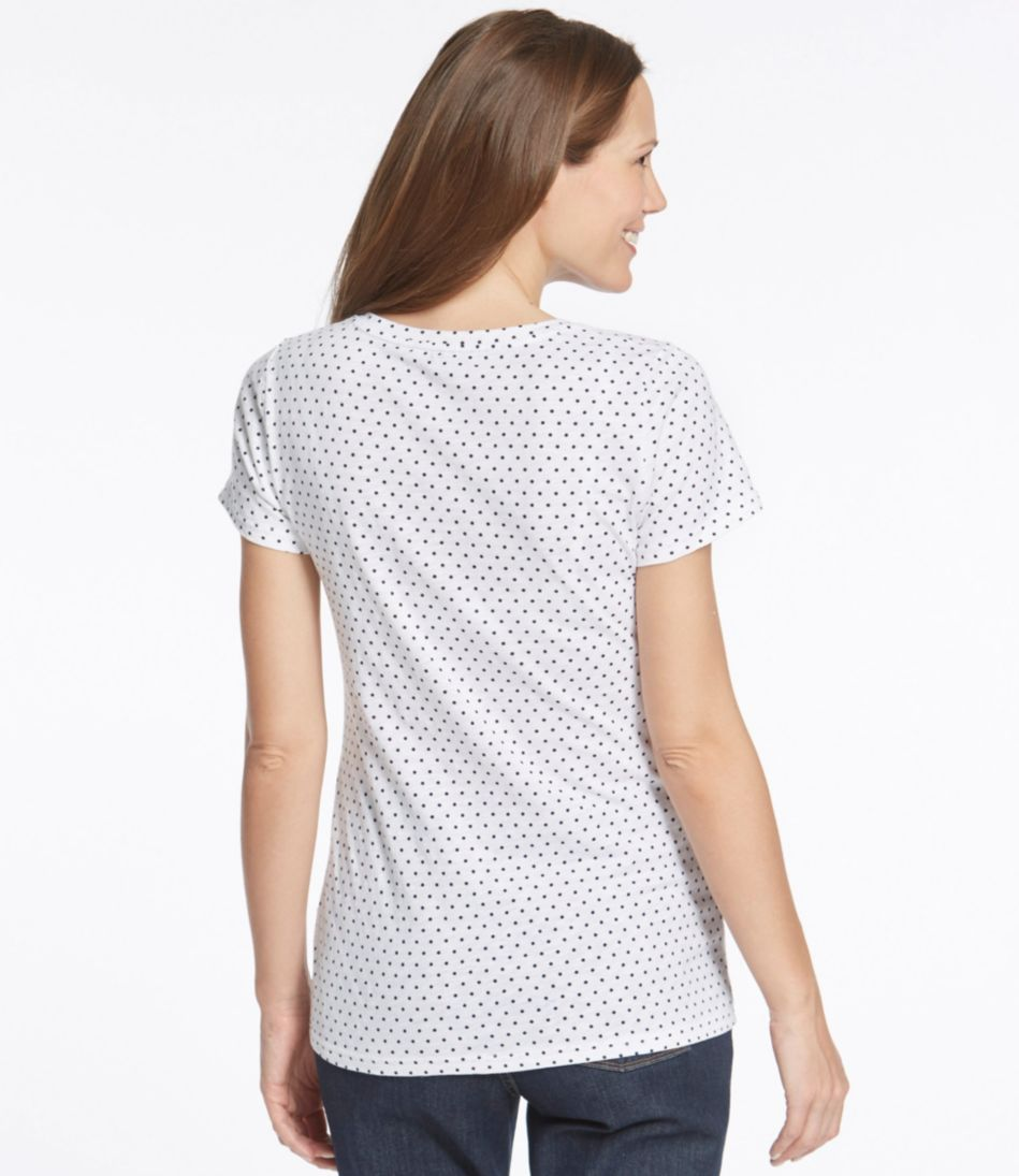 West End Fitted Tee, Short-Sleeve V-Neck Polka Dot