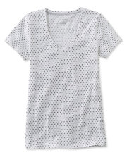 Women's West End Fitted Tee, Short-Sleeve V-Neck Polka Dot