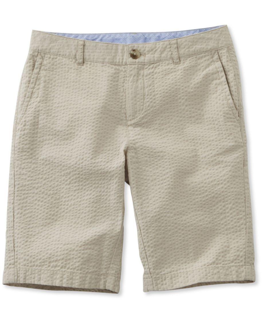 Washed Chino Bermuda Shorts, Seersucker