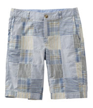 "Washed Chino Bermuda Shorts, 10"" Patchwork"
