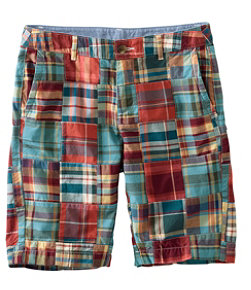 "Women's Washed Chino Bermuda Shorts, 10"" Patchwork"
