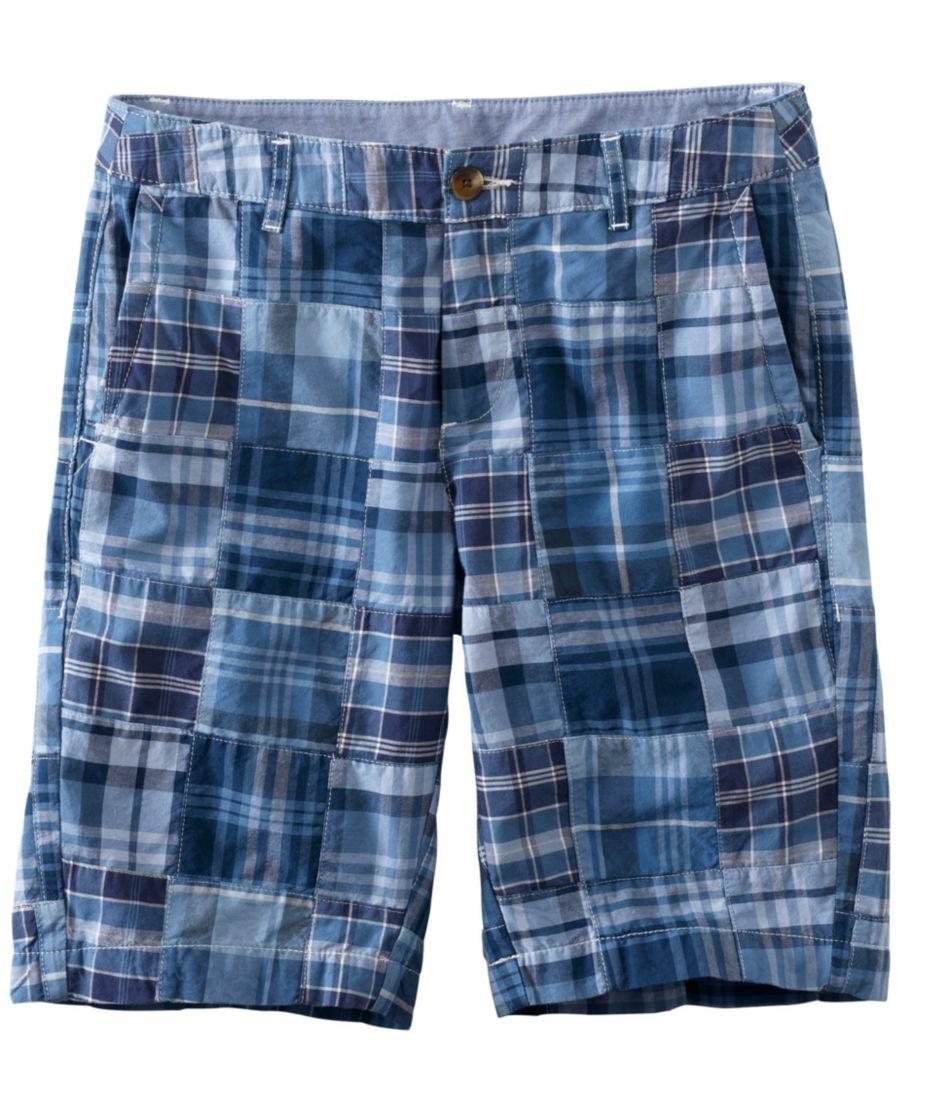 "Washed Chino Bermuda Shorts, 10"" Patchwork"