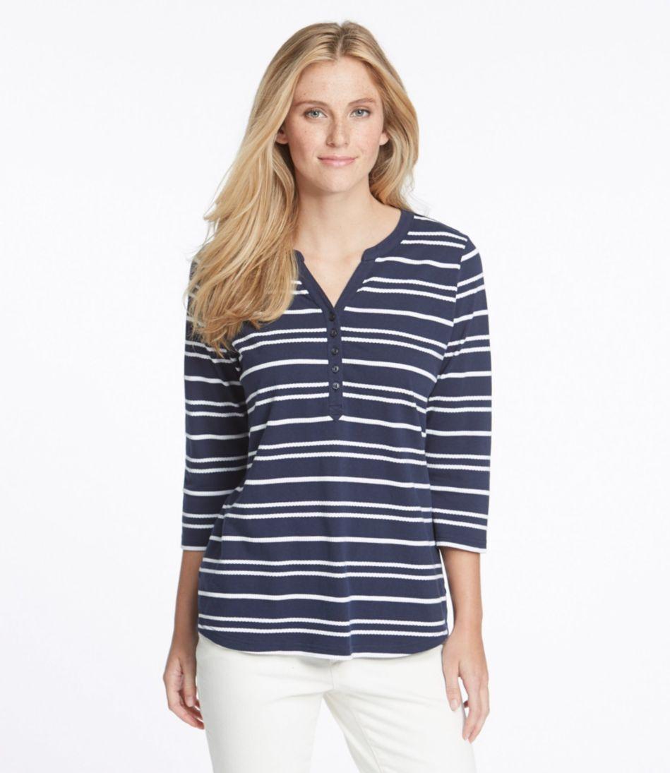 Mixed-Stripe Henley