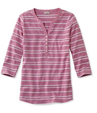 Women's Mixed-Stripe Henley