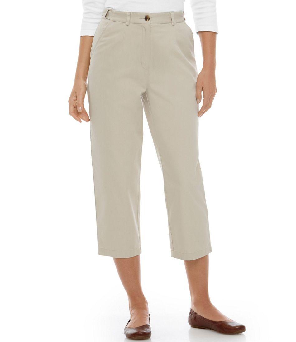 Wrinkle-Free Bayside Pants, Cropped Original Fit Hidden Comfort Waist