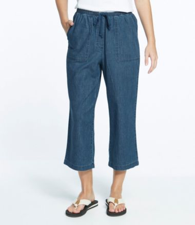 Sunwashed Cropped Pants, Denim
