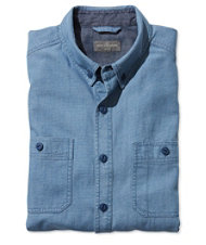 Signature Indigo Cotton/Linen Sport Shirt, Stripe