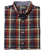 Signature Washed Poplin Shirt, Short-Sleeve Plaid