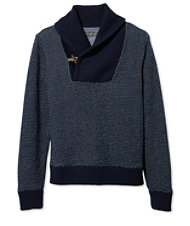 Signature Sweatshirt, Shawl Collar Bird's-Eye