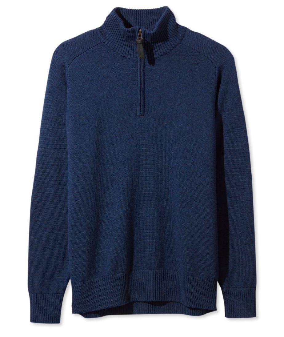 Signature Italian Merino Sweater, Quarter-Zip