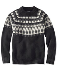 Signature Slopeside Sweater, Crew Fair Isle