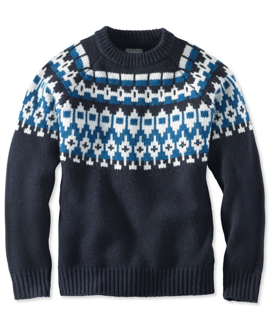 Signature Slopeside Sweater, Crew Fair Isle