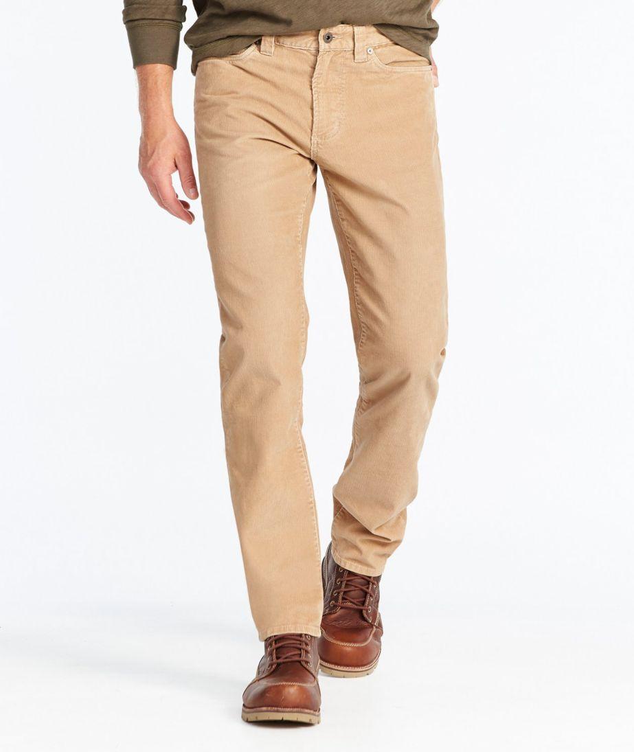 Signature Washed Corduroy Pants, Slim Straight