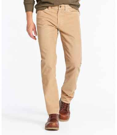 Men's Signature Washed Corduroy Pants, Slim Straight