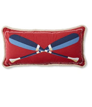 Canvas Throw Pillow, Paddles