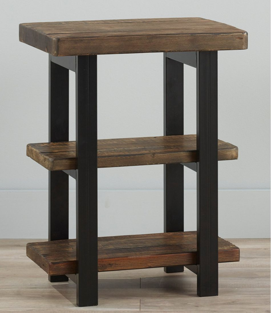 Rough Pine End Table