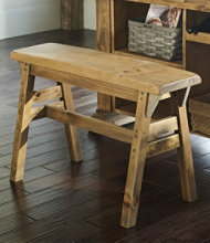 Rustic Wooden Gathering Island Bench