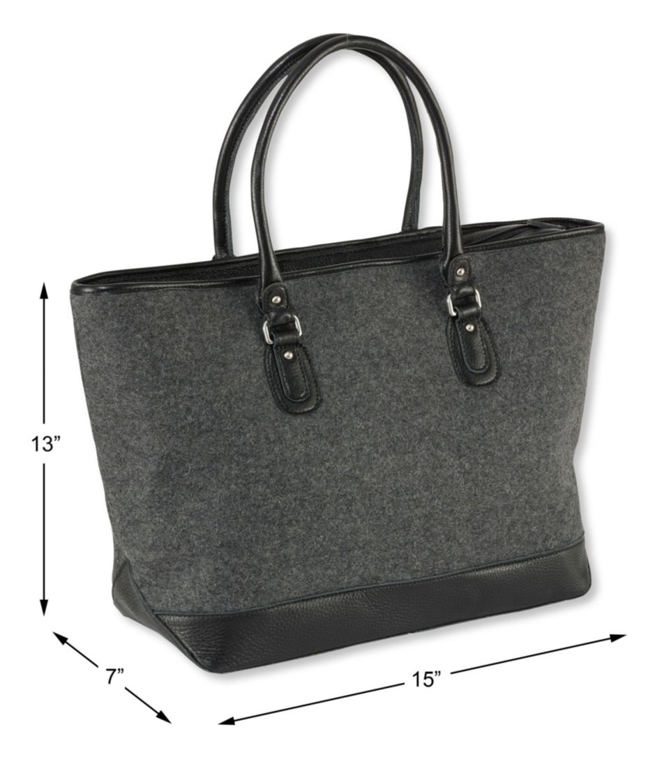 Exchange Street Wool Tote