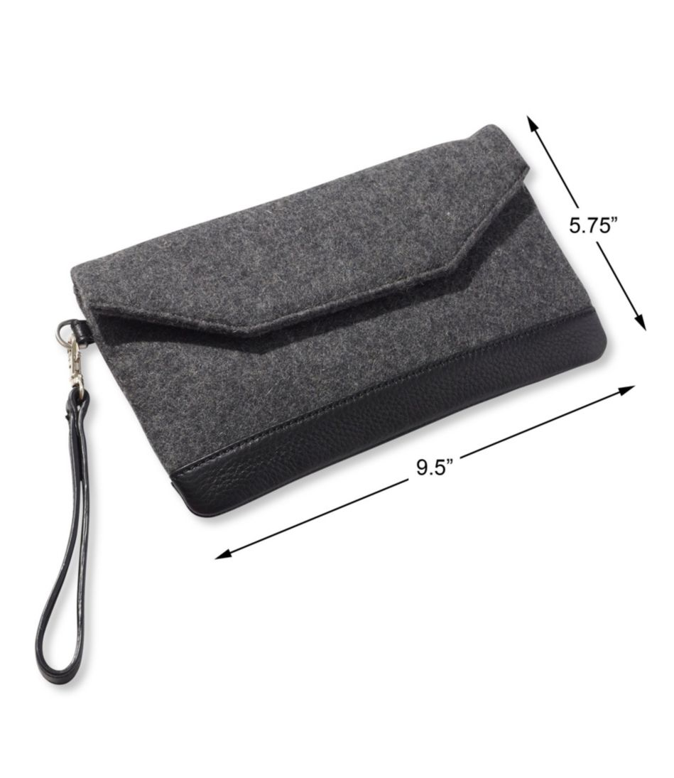 Exchange Street Wool Clutch