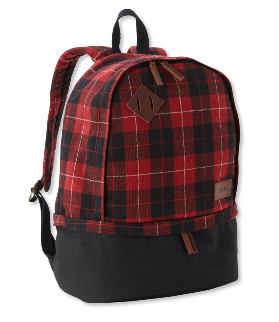 L.L.Bean Teardrop Backpack, Plaid