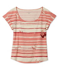 Signature Cotton/Modal Scoopneck, Short-Sleeve Bird Print