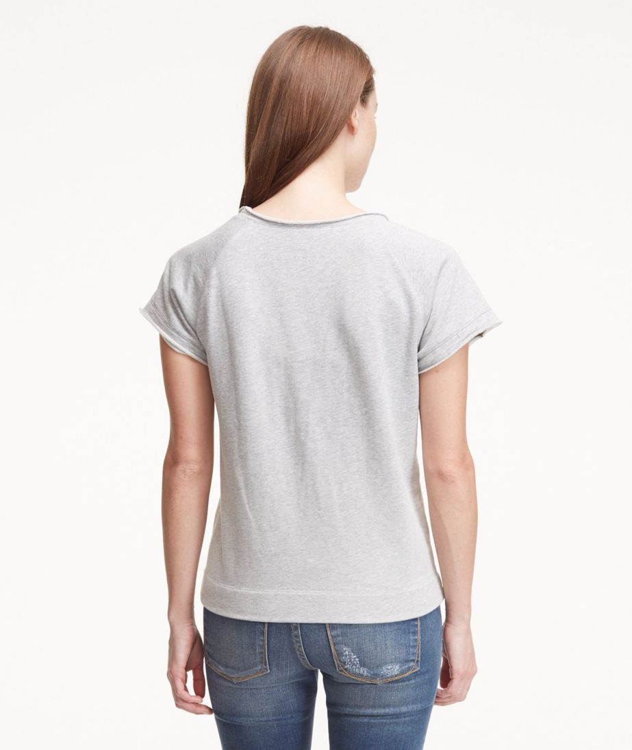 Signature Short-Sleeve Scoopneck Sweatshirt