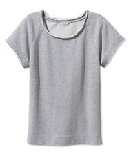 Signature Short-Sleeve Scoopneck Sweatshirt