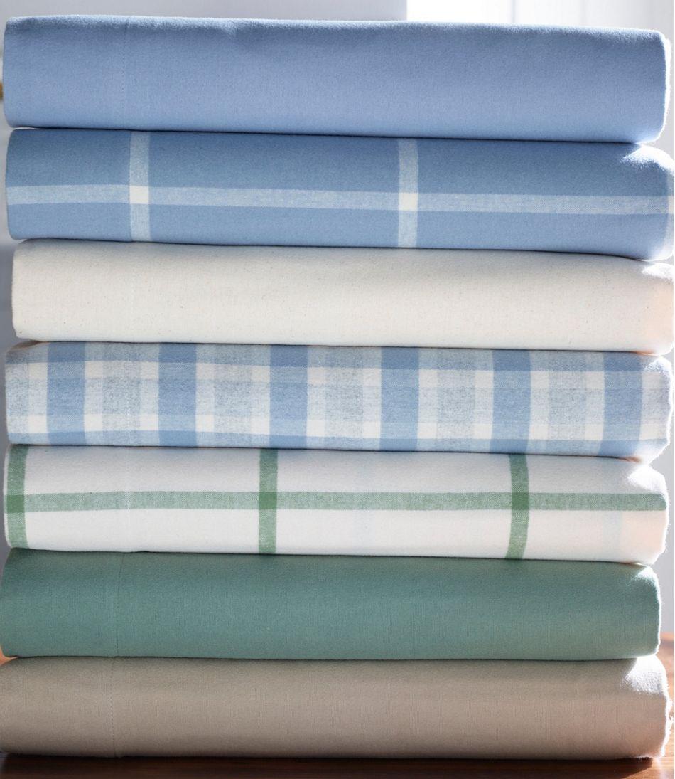 Ultrasoft Comfort Flannel Sheet Fitted Windowpane
