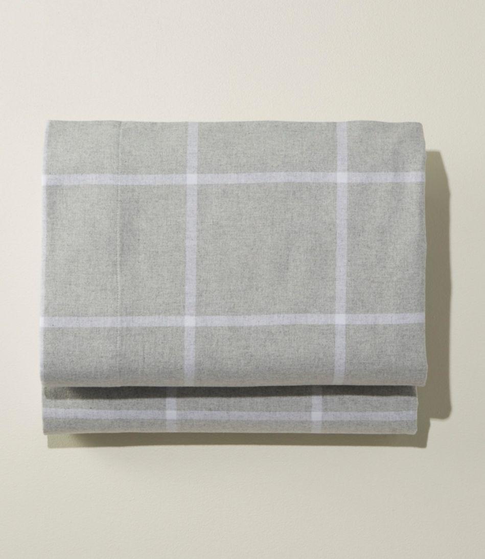 Ultrasoft Comfort Flannel Sheet, Fitted Windowpane