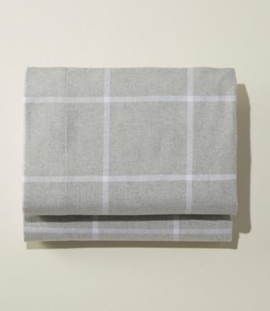 Ultrasoft Comfort Flannel Sheet, Fitted Windowpane