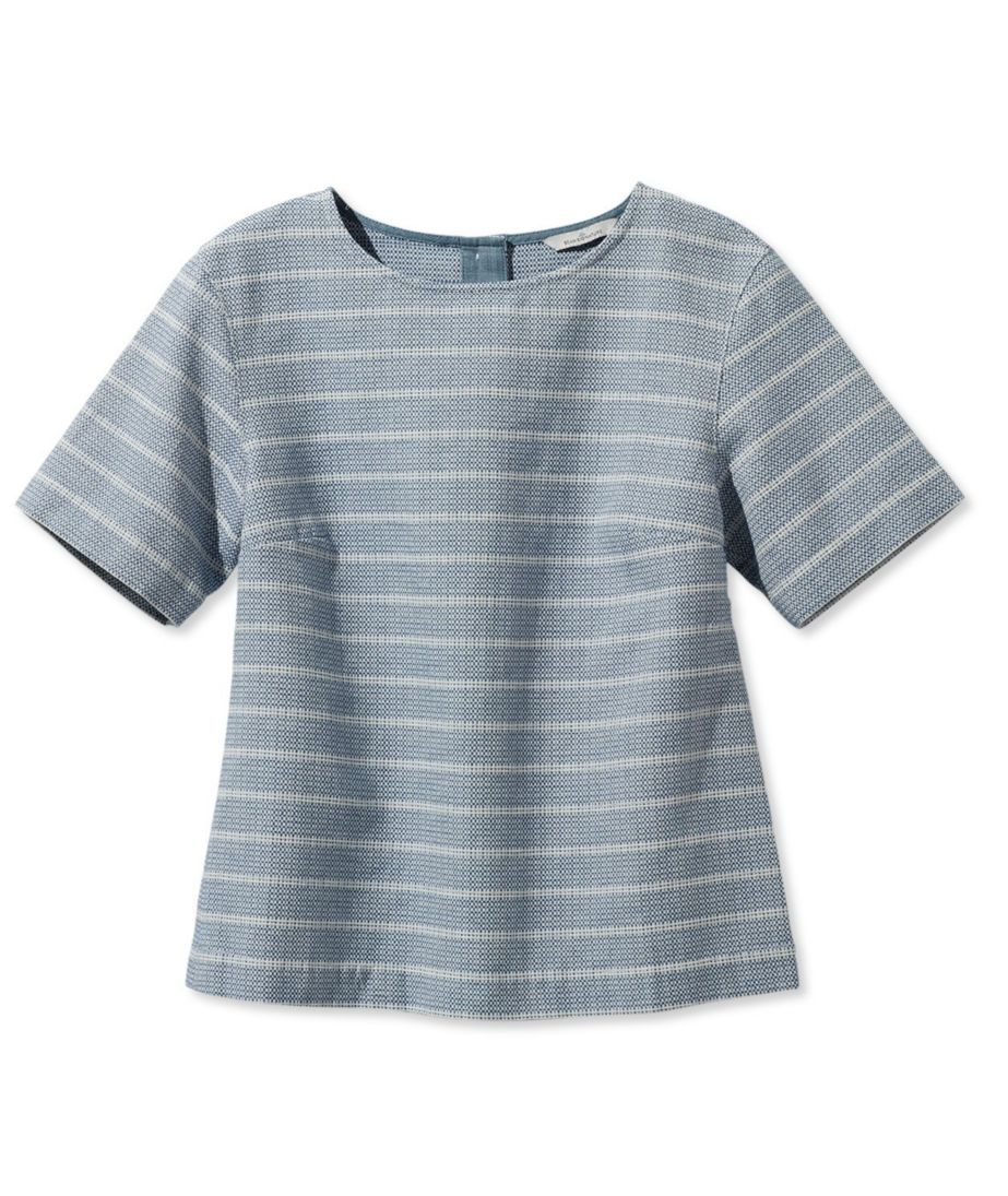 Signature Button-Back Jacquard Shirt