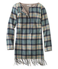 Signature Fringe Flannel Tunic, Plaid