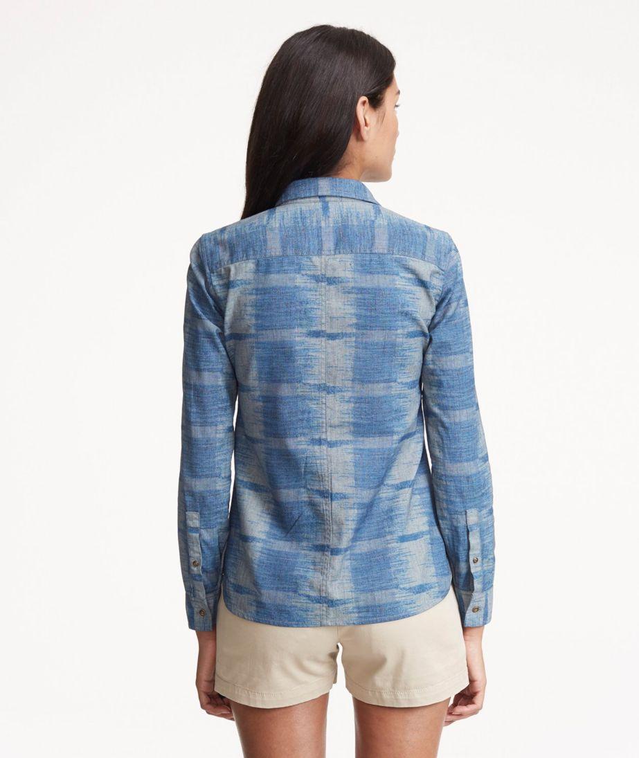 Signature Denim Popover Shirt, Ikat