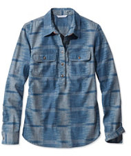 Signature Denim Popover Shirt, Ikat