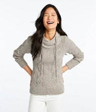 Signature Cotton Funnelneck Fisherman's Sweater