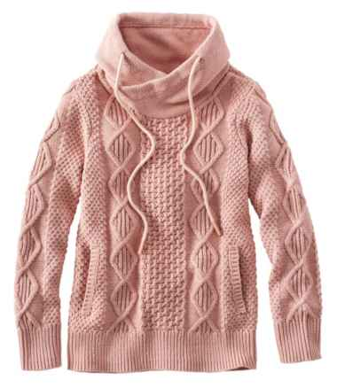 Signature Cotton Funnelneck Sweater