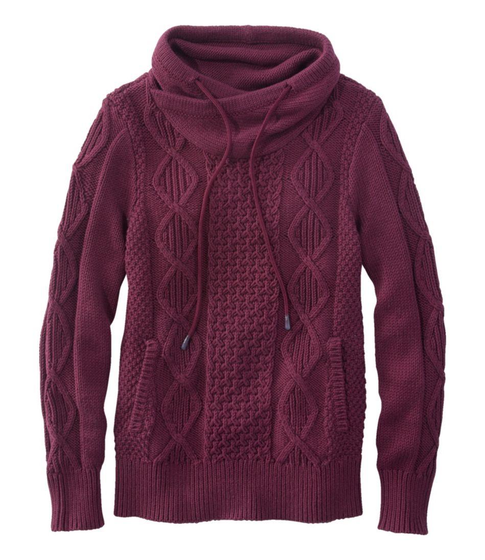 Signature Cotton Funnelneck Sweater