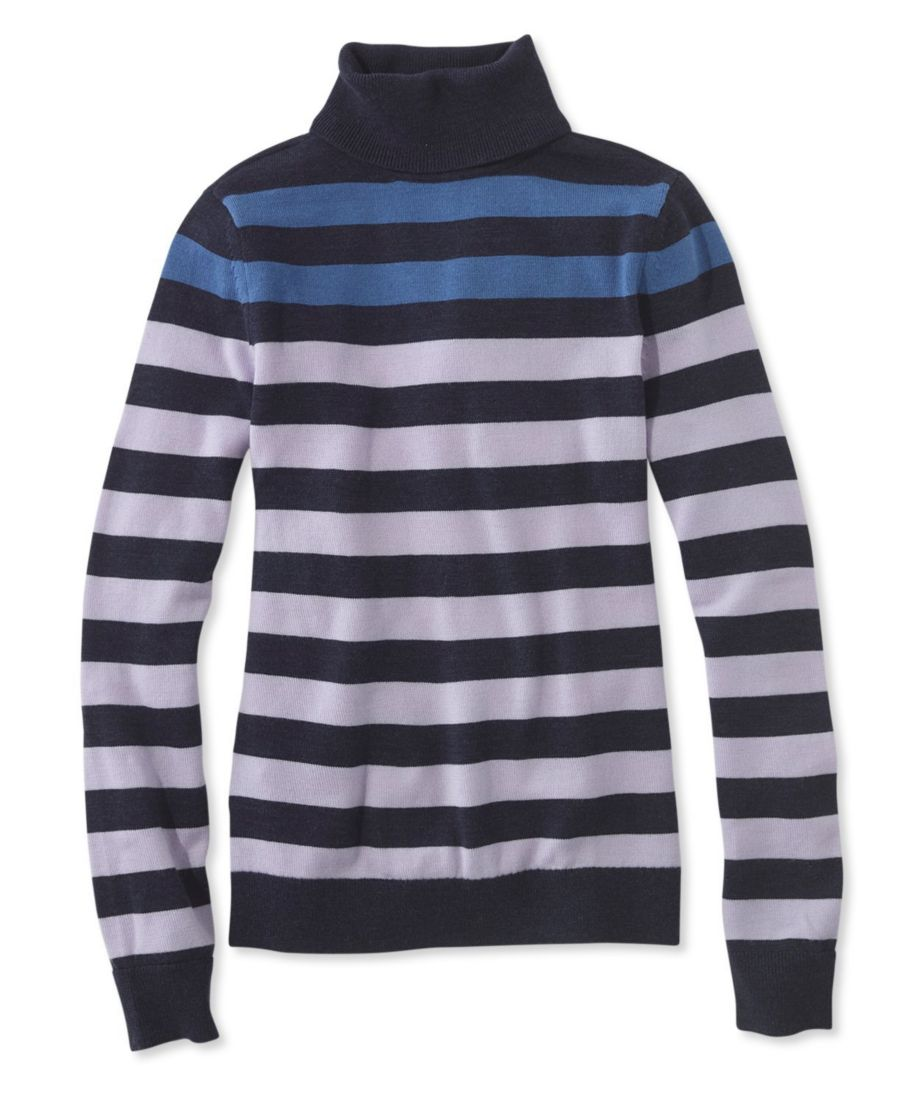 Signature Merino Turtleneck Sweater, Stripe