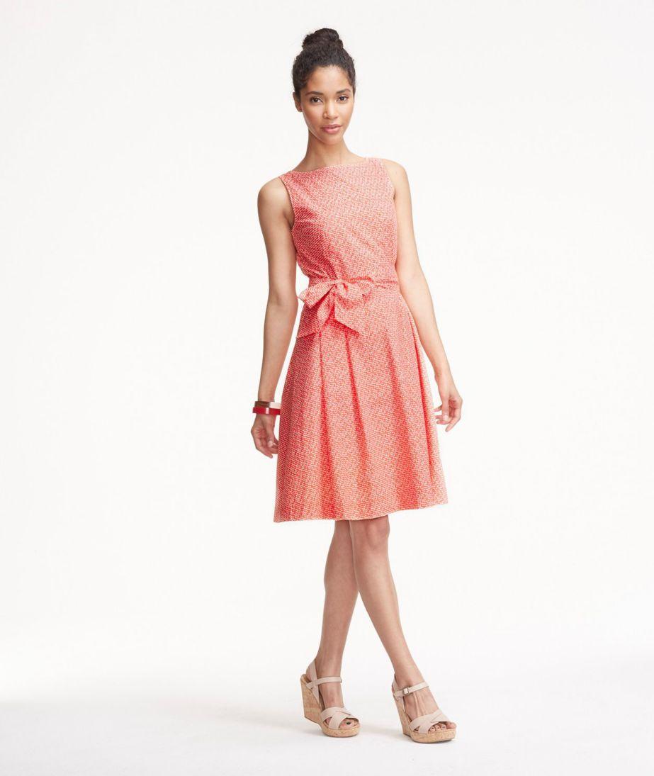 The Signature Poplin Dress, Ember Dot