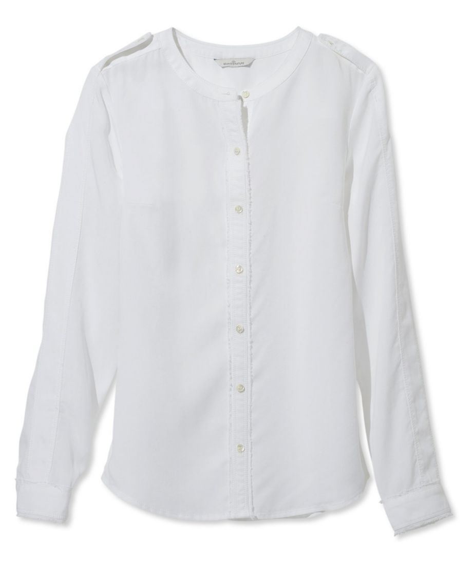 Signature Collarless Long-Sleeve Shirt