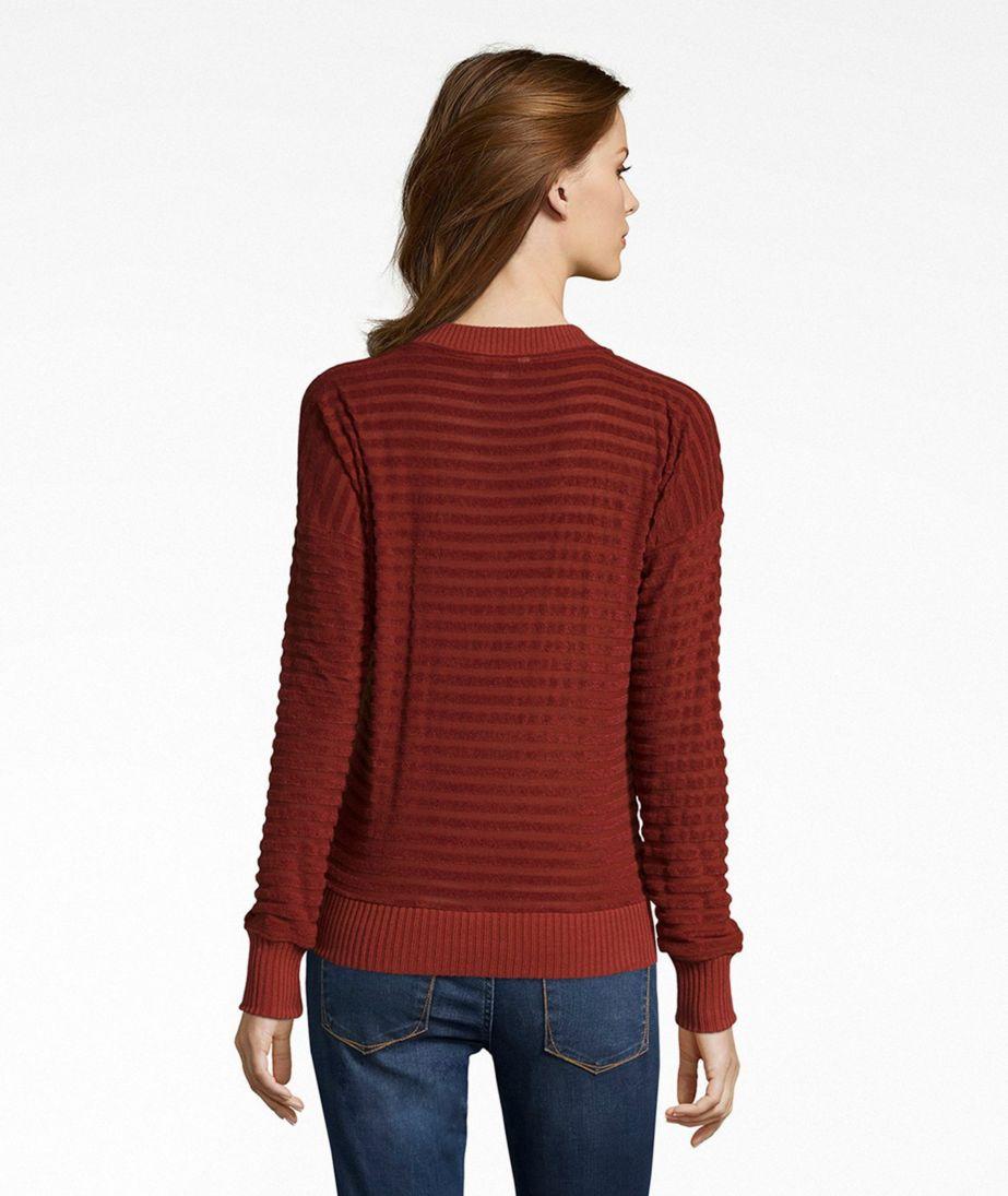 Signature Sheer-Stripe V-Neck Shirt