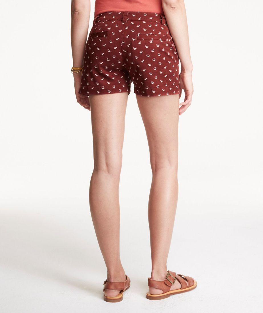"Signature Washed Twill Shorts, 3"" Inseam Print"