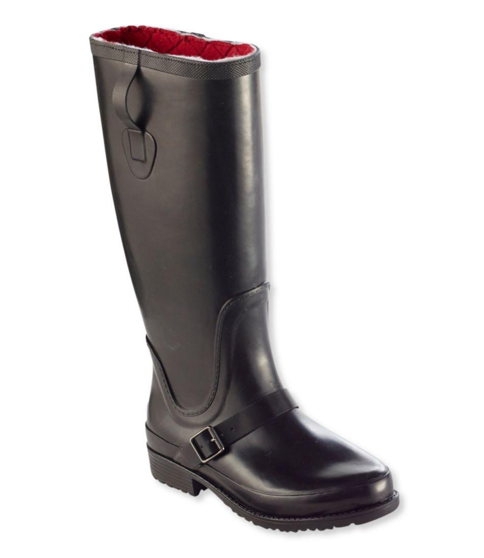 Women's Insulated Wellie Rain Boots, Tall