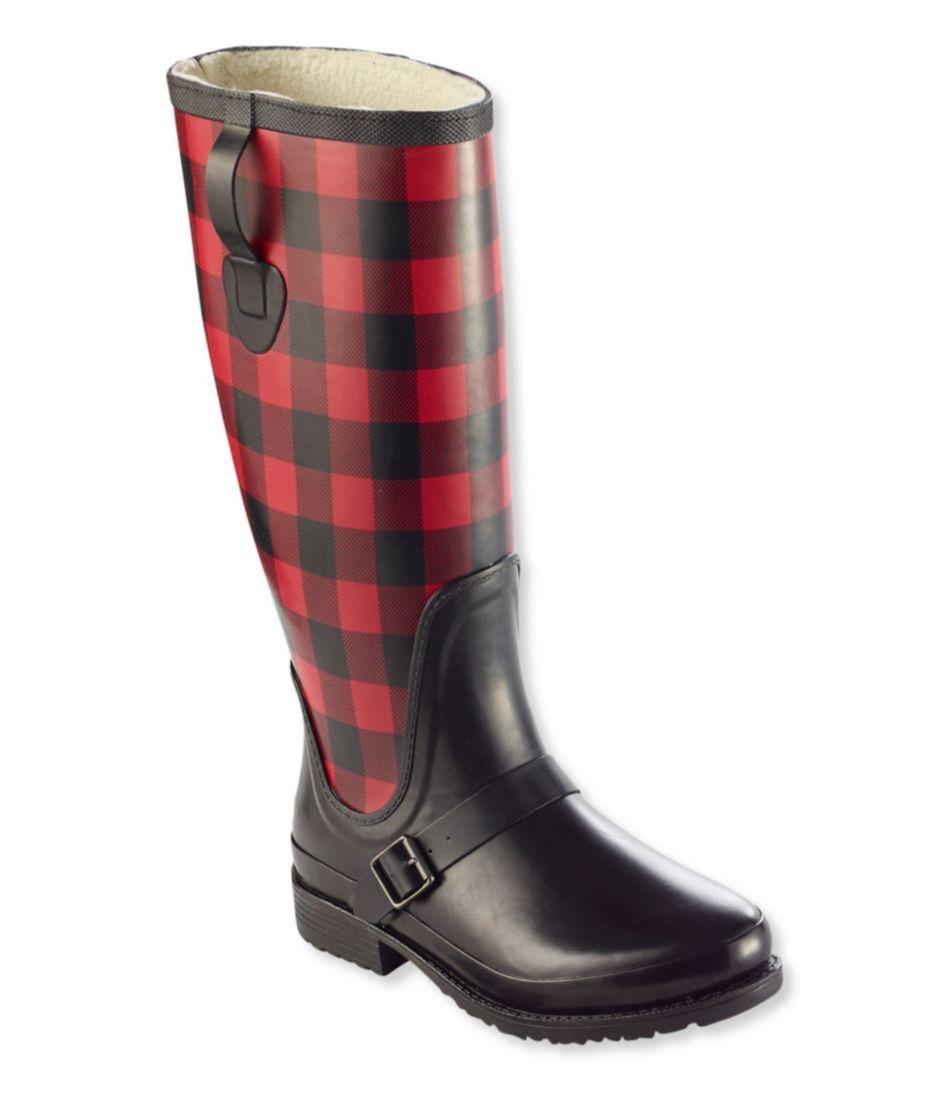 Insulated Wellie Rain Boots with Polartec Fleece, Tall